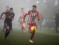Los laterales Lucas y Arias pusieron dos de los tres goles. AFP