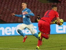 Jose Callejon is looking to stay at Napoli for the future seasons. EFE/EPA