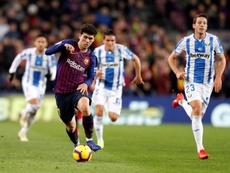 Carles Aleñá estaría cerca de marcharse al Betis en enero. EFE/Archivo