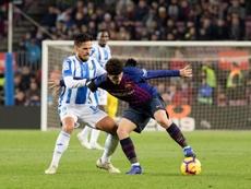 Aleñá empieza a cuajar en el Barça. EFE