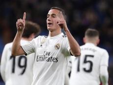 Lucas Vázquez se mostró descontento tras el 1-1. EFE