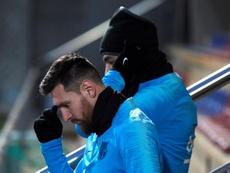 Groupe de Barcelone pour affronter Séville en Liga. EFE