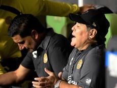 Maradona no se acordó del nombre de Salines. EFE