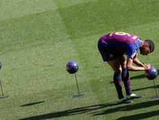 Jean-Clair Todibo a commencé du bon pied au Barça, mais à présent il y aurait des problèmes. EFE