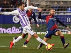 Kiko Olivas debutó con el Valladolid ante la SD Huesca. EFE
