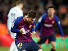 Marcelino se rindió a los pies de Messi. EFE