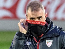 Garitano habló sobre el posible once ante el Barça. EFE