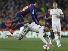 El Madrid dio un paso atrás por LaLiga ante el Girona. AFP