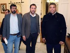 Óscar Puente cree en la inocencia de los jugadores del Valladolid. EFE