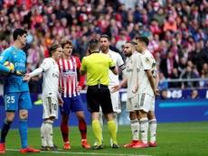 O Real venceu o Atlético no Wanda Metropolitano. EFE