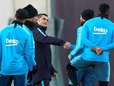 Valverde, con la mente puesta en Liga y en Champions. EFE