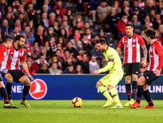 Messi couldn't break down a stubborn Bilbao defence. EFE