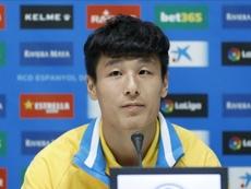 Wu Lei aspira a ser un icono de promoción del fútbol chino. EFE