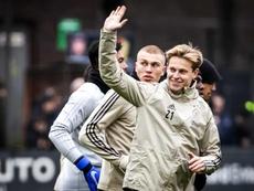 De Jong continua em dúvida para o jogo dos oitavos da Champions. EFE