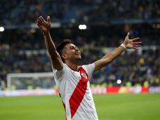 Cavenaghi habló de lo que le dijo el 'Pity' antes de la final de la Libertadores. EFE