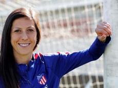 Jenni Hermoso se despidió del Atlético de Madrid. EFE