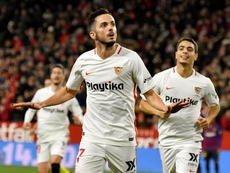 Pablo Sarabia could be heading to Milan. EFE/Archivo