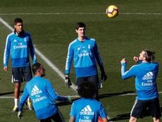 Courtois valoró la situación de Bale. EFE