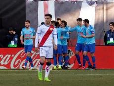 El Atlético ganó en Vallecas. EFE