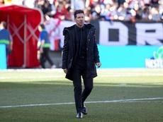 Simeone volvió a liarla en rueda de prensa. EFE