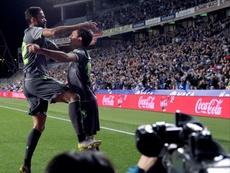 Oyarzabal y Willian José marcaron los goles. EFE