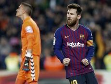 Messi volvió a marcar. EFE
