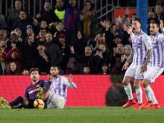 Piqué fue determinante ante el Valladolid. EFE