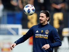 Ibrahimovic habló antes del partido ante Cruz Azul. EFE/Archivo