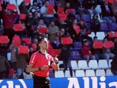Árbitro Sánchez Martínez expulsou membro da equipe técnica do Real Madrid. EFE/Archivo