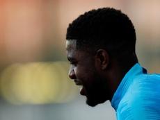 Samuel Umtiti veut continuer à Barcelone. EFE