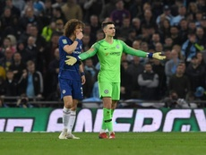 David Luiz was upset with Burnley's style of play. EFE