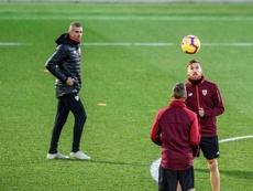 Íñigo Martínez defendió al técnico del Athletic. EFE/Archivo