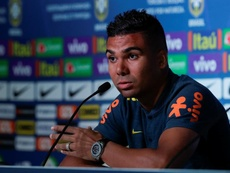 Casemiro aseguró que Vinicius estuvo entre los mejores en los dos últimos meses. EFE