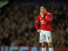 Alexis se entrena con el United mientras se resuelve su futuro. EFE