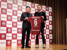 Debut goleador de Samper con el Vissel Kobe. EFE