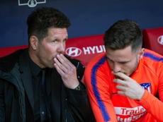 Saúl analizó el resultado ante el Lokomotiv. AFP