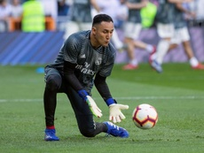 Zidane counting on Keylor. EFE