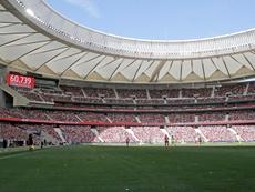 Saúl y Casillas flipan con el récord del Wanda Metropolitano. EFE