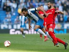 El Espanyol cayó ante el Sevilla. EFE