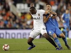 Valencia y Getafe empataron sin goles en Mestalla. EFE