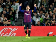 Lionel Messi adds another hat-trick to his repertoire. EFE
