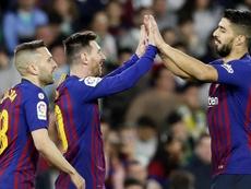 Las 10 estadísticas que lidera el Barça en la Liga. EFE