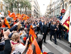 Valencia fans are tired of their owners. EFE