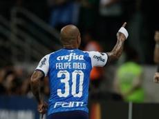 Felipe Melo seguirá en Palmeiras hasta 2021. EFE