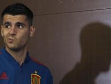 Luis Enrique, contento con Morata. EFE