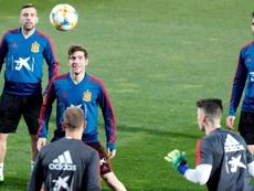 Cuatro jugadores catalanes, en la convocatoria de la Selección. EFE