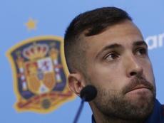 Jordi Alba pasó revista. EFE