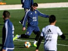 Messi conseguiu treinar com os seus companheiros. EFE