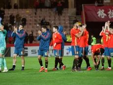 España Sub 21 juega contra Austria Sub 21. EFE