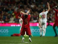 Portugal voltou a empatar na qualificação do Europeu frente à Sérvia. EFE